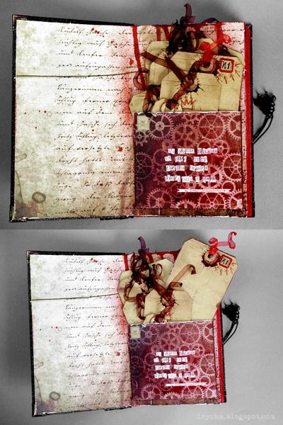 """Macabre"" travelling art journal - inside"