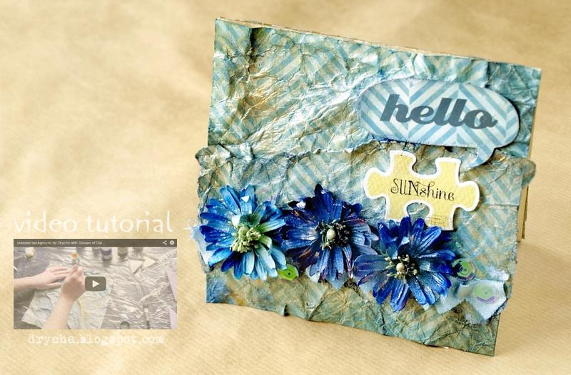 card and video tutorial for Scraps of Darkness <3 Hello sunshine!