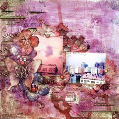 pink sky * Prima Feb PPP * stuff from Scraps of Darkness Kits