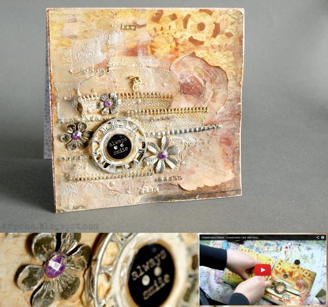 "mixedmeedia card tutorial with *Scraps of Darkness* ""Day Glo"" March Kit"