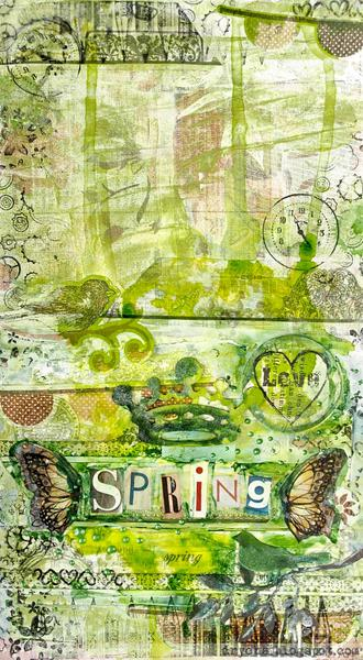 Spring time (welcome to Blog Hop!) *3rd Eye* stamps