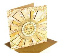 Sunny card with 3rd Eye stamps