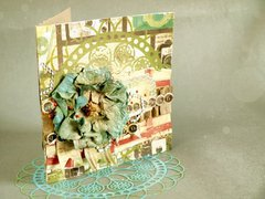 """card with Scraps of Darkness """"Remember When"""" Kit"""