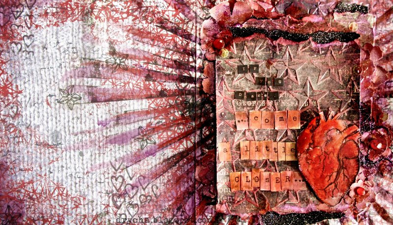 if You dare... project with *3rd Eye stamps*