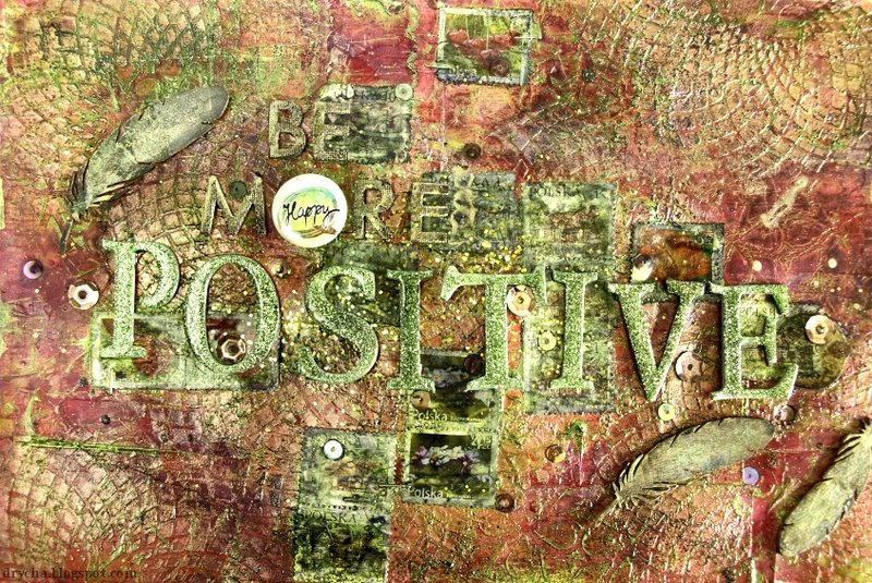 Be more positive * 3rd Eye * adhesive badge and chippies