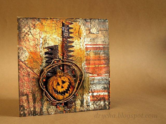 Pumpkin card using 3rd Eye stamps