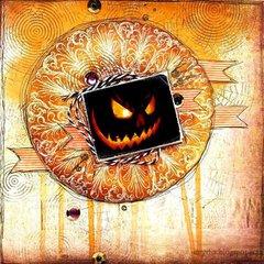 Halloween pumpkin 2010 * using 3rd Eye stamps