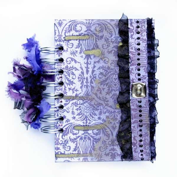 "purple notebook *Scraps of Darkness* Nov kit ""Purple Haze"""