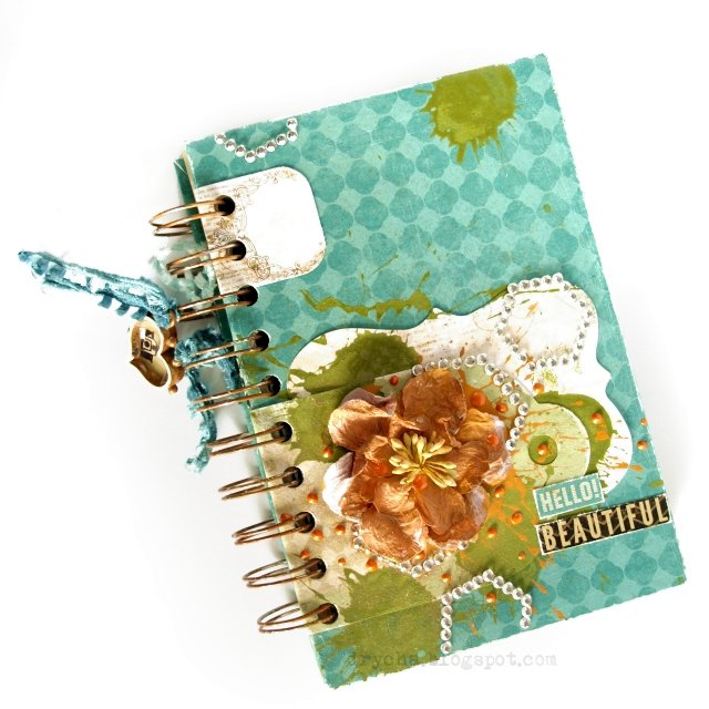 "notebook using Scraps of Darkness ""Remember when"" Kit"