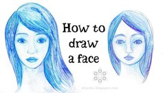How to draw a face - video tutorial