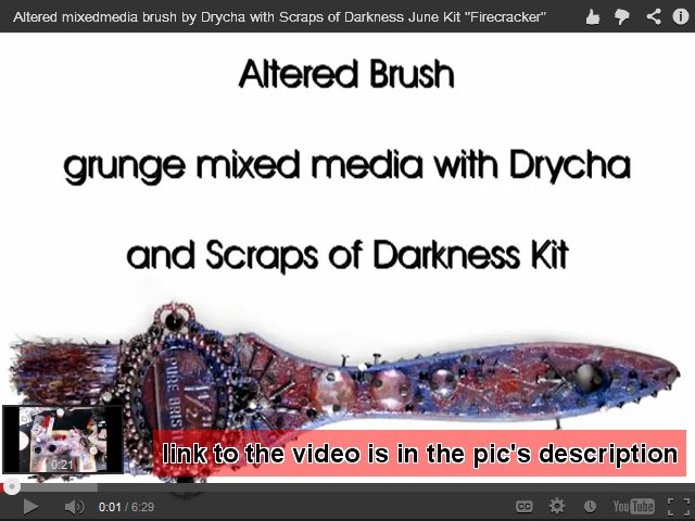 altered brush - mixedmedia grunge with Scraps of Darkness Kit