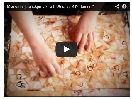 mixed media background tutorial with * Scraps of Darkness * Day Glo Kit
