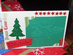 Xmas card:felt tree