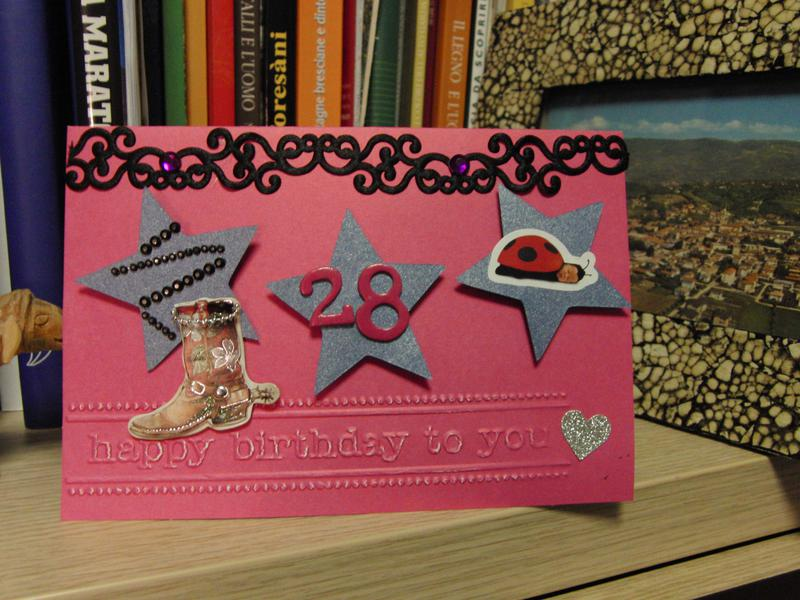 Birthday card with cowboy boot