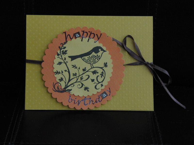 """Birthday card """"bird"""""""