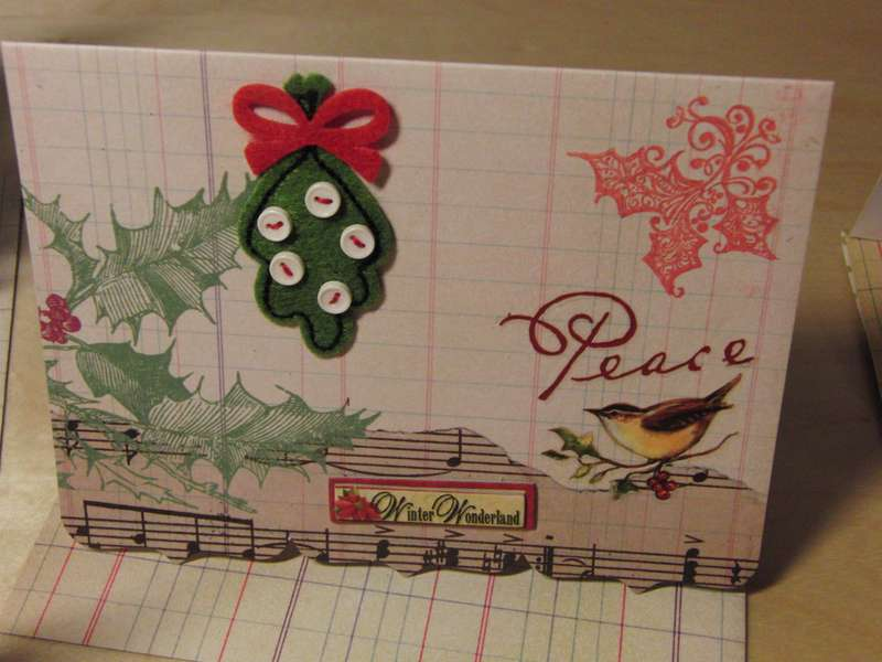 Christmas card with Peace