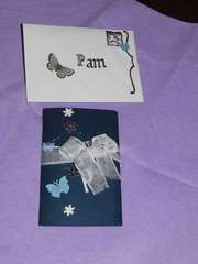 Birthday blue card for a special friend