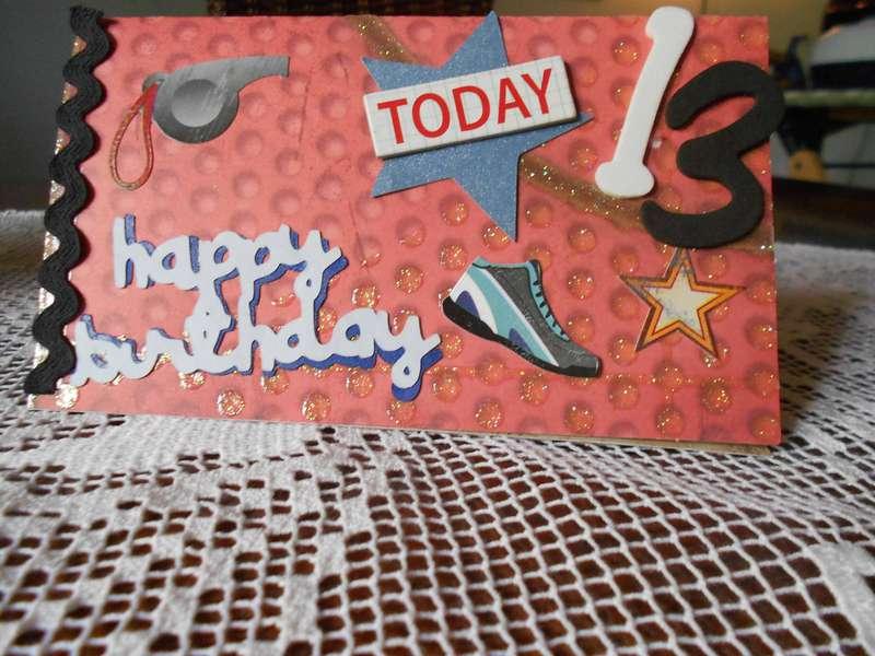 13rd birthday card