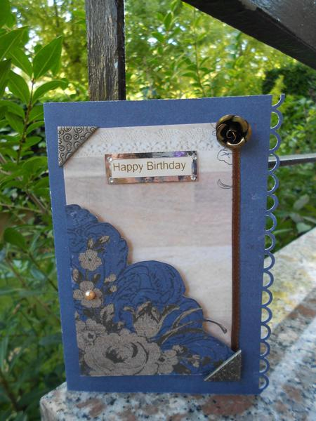 "Birthday card ""blue and brown"""