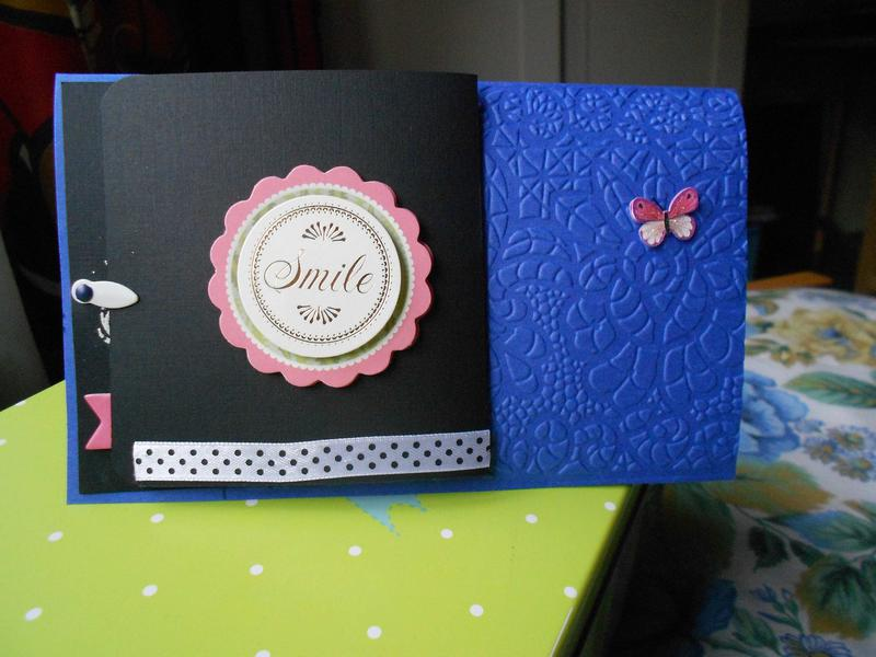 "Birthday card ""Blue"""