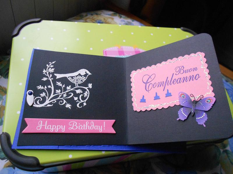 "Birthday card ""Blue"" inside the black paper"