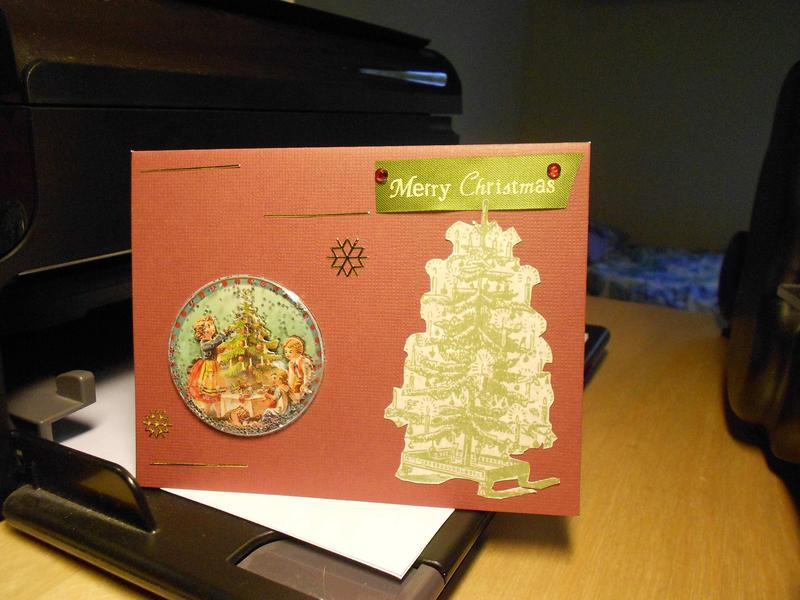 Christmas card: vintage