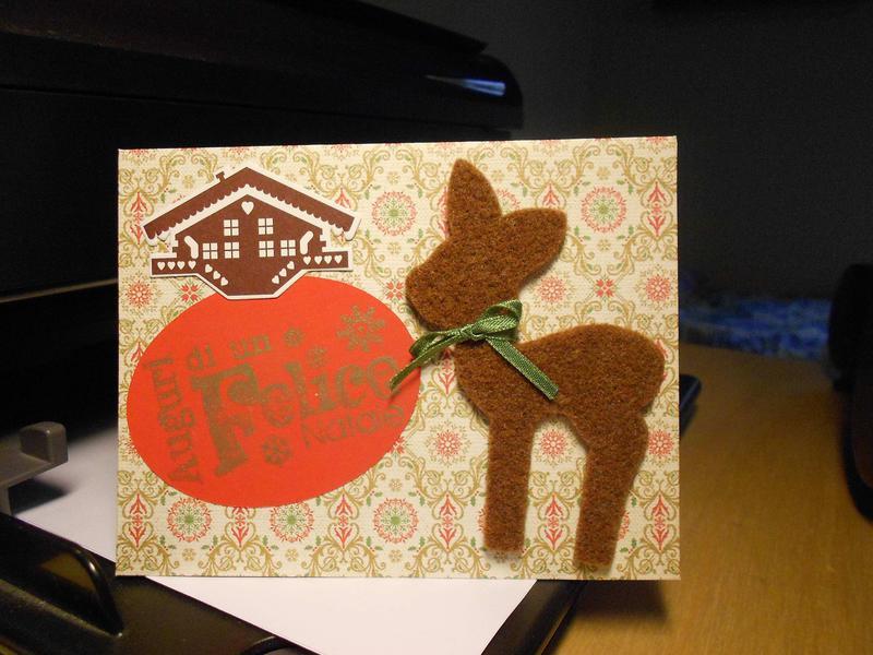 Christmas card:fawn