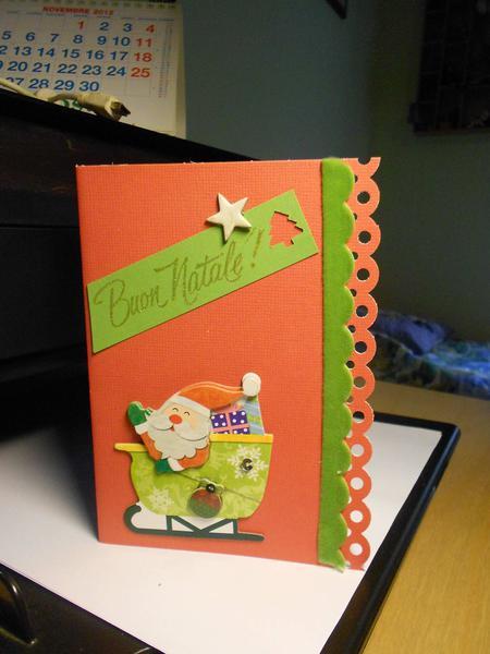 Christmas card: Santa Claus