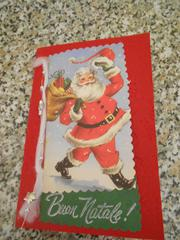 Christmas card: vintage Santa Claus