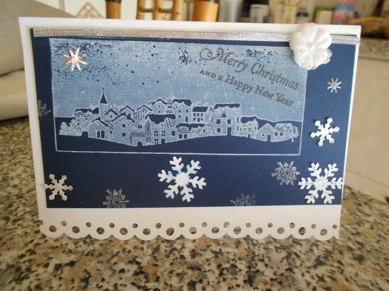 Christmas card: village