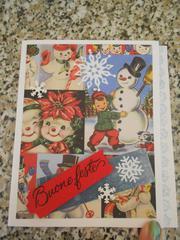 Christmas card: vintage snowman