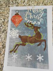 Christmas card: reindeer