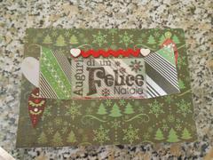 Christmas Nordic card: open window