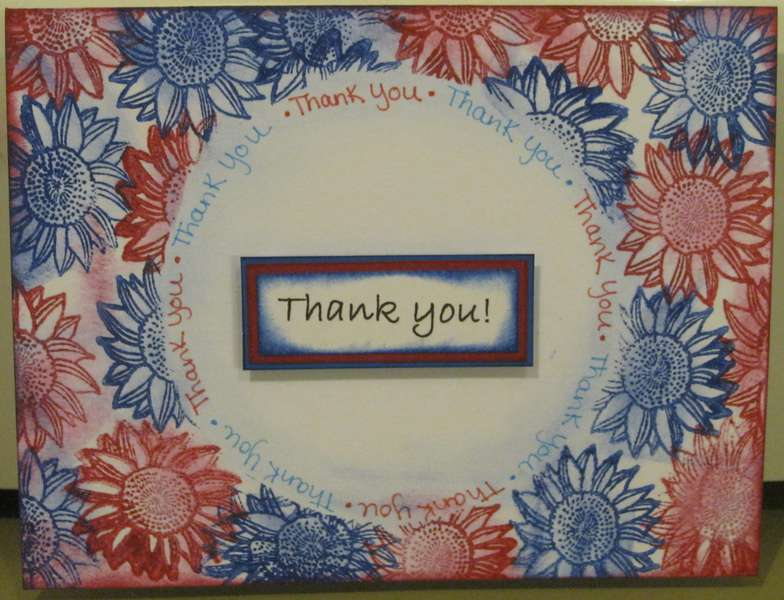 stamped Daisy thank you card