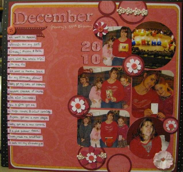 December 2010(mommy's 33rd birthday)
