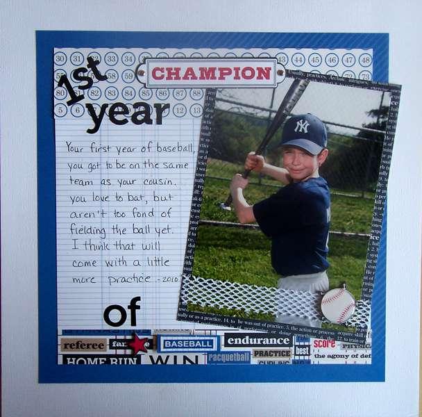 1st Year of Baseball