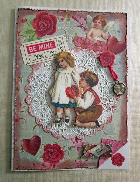 Vintage Inspired Valentine Card