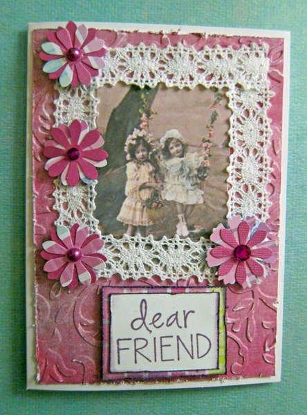 Vintage Inspired Friendship Card