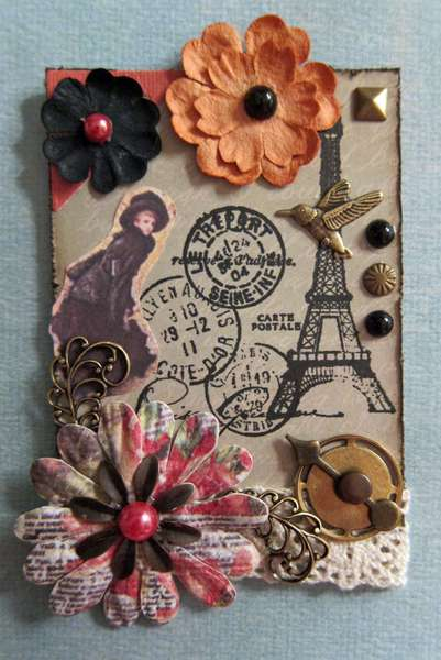 Vintage Inspired, Shabby Chic, Paris ATC