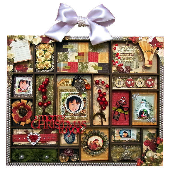 """Hybrid Christmas Letter Block Tray """"Merry Christmas to You"""""""