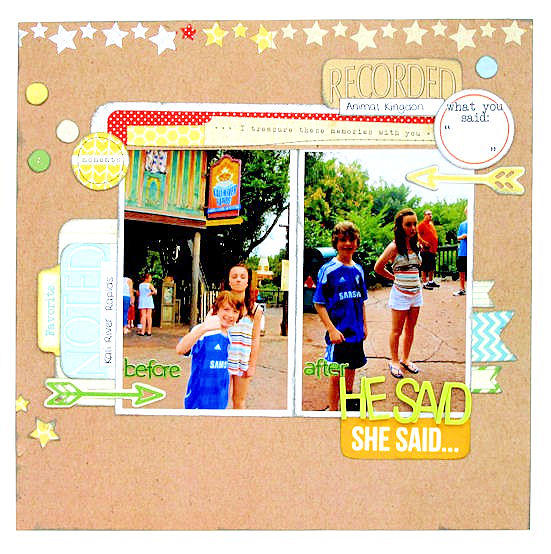 He Said She Said - Cocoa Daisy April Kit