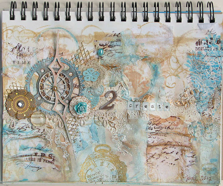 Time 2 Create (Art Journal Page)