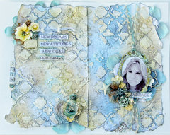 Art Journal Page for Berry71Bleu Word Challenge
