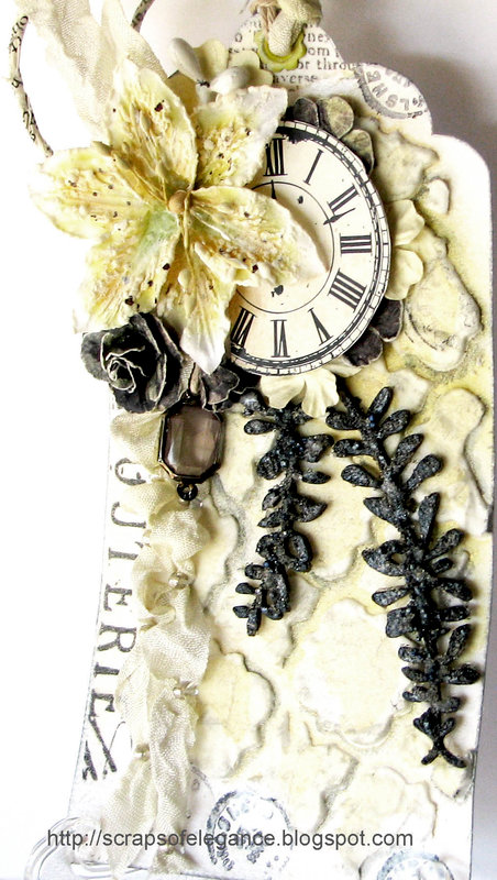 Mixed Media Tag and Chipboard