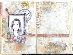 """The """"J"""" page in my Women of Substance Art Journal"""