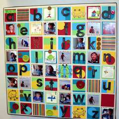 Large Alphabet Canvas Art