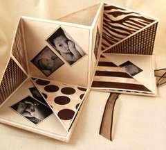 Chocolate & Vanilla FoldOut Book Open