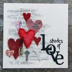 Shades of Love Stretched Canvas