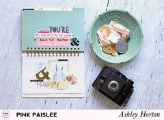 **Pink Paislee** C'est La Vie Spiral Notebook