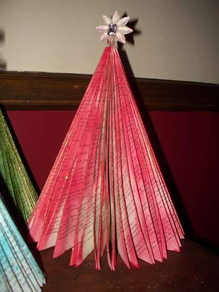 Book Paper Folded Christmas Tree